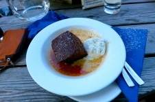 The AMAZING ginger sticky toffee pudding :)