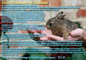 Alice's philosophy on Kindness