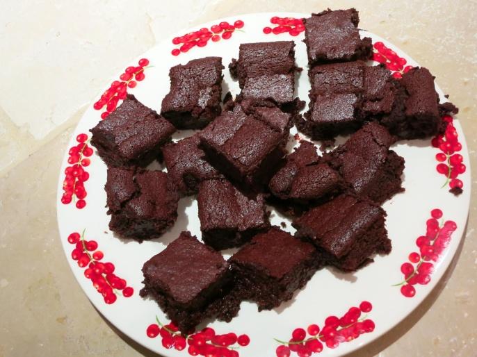 Beetroot, Orange, Date and Almond brownies