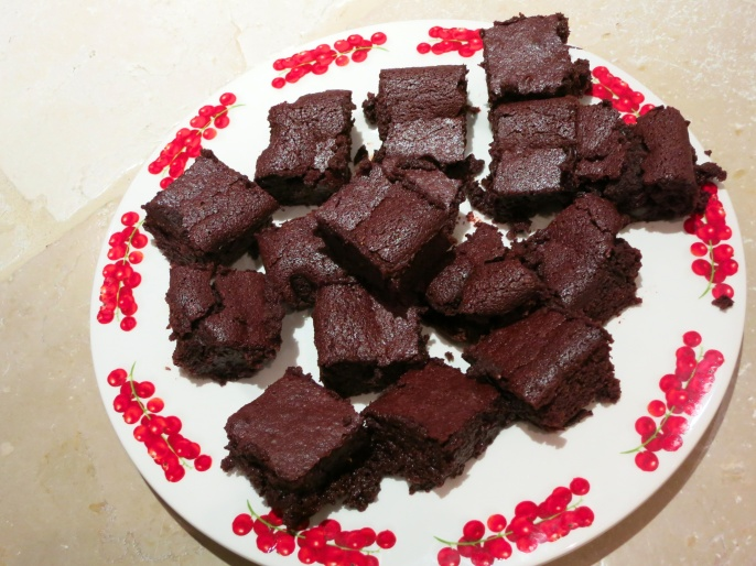 Beetroot, Orange, Date and Almond brownies