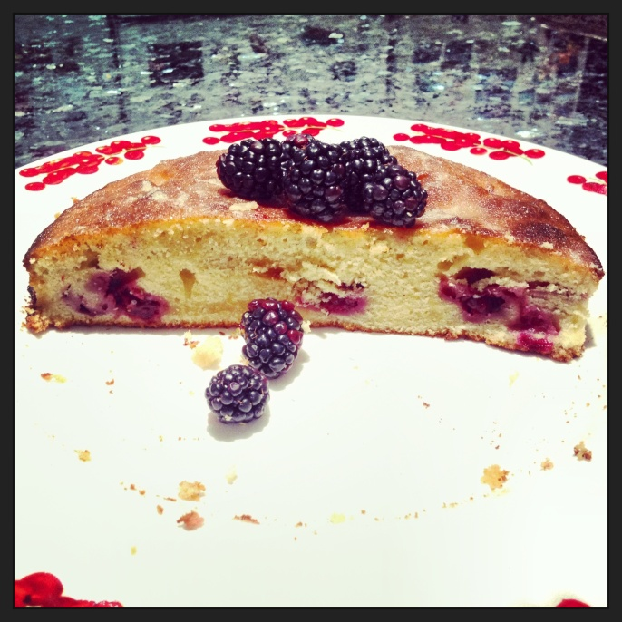 Blackberry and Lemon Crunch Cake 1