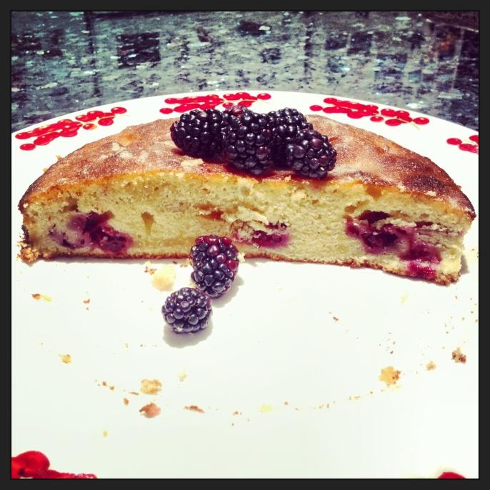 Blackberry and Lemon Crunch Cake 1
