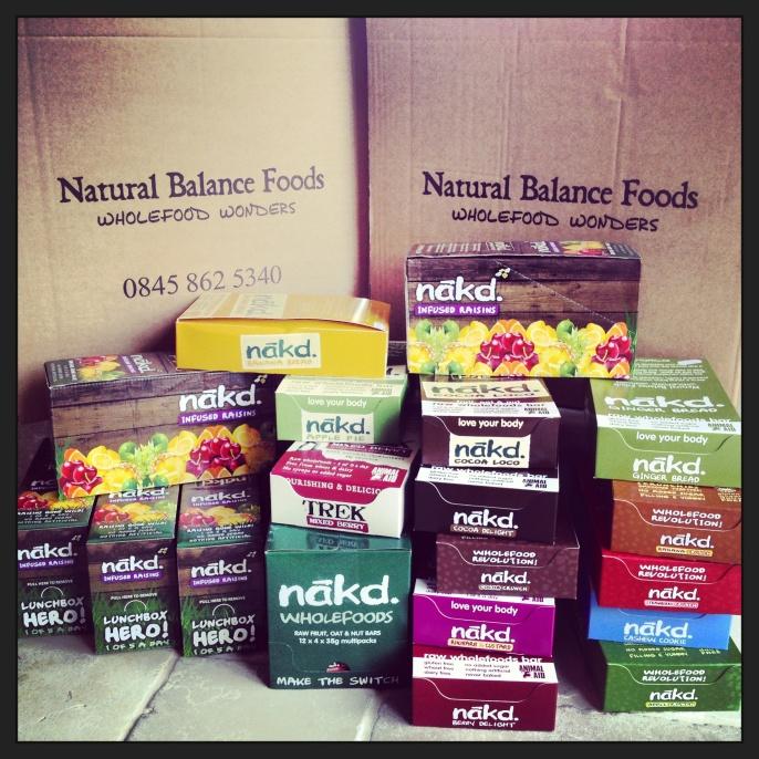 30,000 Calories worth of Nak'd Bars...