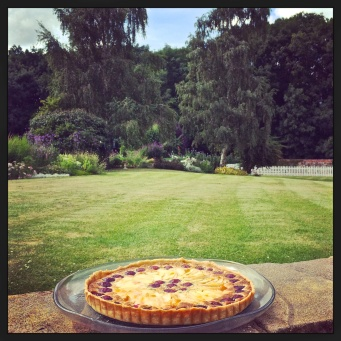 Apple and Frangipane Tart n the Garden